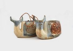 Vintage Snail Planters Ceramic Pots Japan x 2 by NeedorWant on Etsy SOLD
