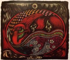 Painting from Vali Myers: Drawings 1949-79 - Vali Myers Witch of Positano
