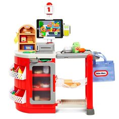 Little Tikes Shop 'n Learn Smart Checkout Role Play Toy Get the perfect kids toys for your youngsters Little Tikes, Toys For Girls, Kids Toys, Baby Toys, Kids Play Kitchen, Toy Kitchen, Bakers Kitchen, 4 Year Old Boy, Pretend Play