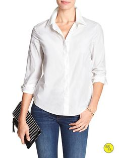 Factory Cross-Back Poplin Shirt