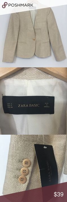 Zara Basic Collection Tuxedo Style Blazer NWT, Zara Basic Collection Tuxedo Style Blazer Buckram Type Material. Zara Jackets & Coats Blazers