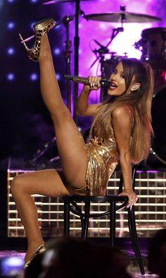 Ariana Grande's Gold Studded Sluttery At The AMAs http://watchnow.inspireworthy.com/r/2ycad