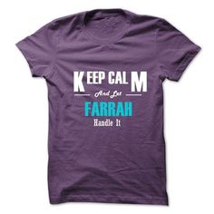 Keep Calm and Let FARRAH Handle It - #sweater diy #sweater tejidos. CHEAP PRICE => https://www.sunfrog.com/No-Category/Keep-Calm-and-Let-FARRAH-Handle-It-6275314-Guys.html?68278