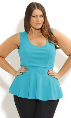 City Chic peplum top