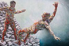 El artista francés Shaka aka Marchal Mithouard, usa combinaciones de elementos del graffiti en sus pinturas de esculturas 3D. Realmente estamos disfrutando sus obras esta mañana.