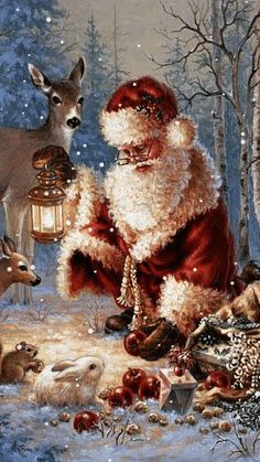 weihnachten gif Weihnachten DIY: Animiertes GIF We - Christmas Scenes, Christmas Past, Christmas Images, Christmas Greetings, Winter Christmas, Father Christmas, Reindeer Christmas, Diy Weihnachten, Christmas Wallpaper