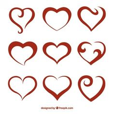 Heart made of little hearts Vector | Free Download