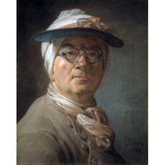 Self Portrait 1775 Jean-Sim???on Chardin (1699-1779 French) Musee du Louvre Paris France Canvas Art - Jean Simon Chardin (18 x 24)