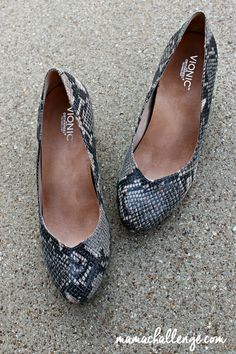 Cute Shoes Can Be Comfortable with these Haute Snakeskin Vionic Shoes. @mamachallenge