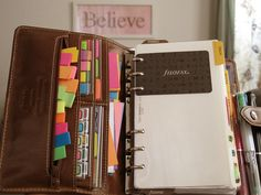 day planner - use sticky notes that fit in boxes for appointments, meetings, etc. remove when done***