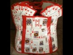 How to make a playing card dress (Part 1) - YouTube