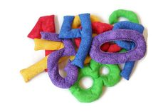 Number Shaped Bean Bags Red Purple Blue Green Yellow Bold Brights Educational Toy Homeschool Sensory (set of 10) - US Shipping Included - pinned by pin4etsy.com