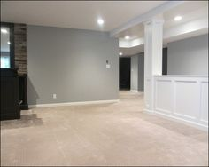The Best Basement Paint Color and Carpet Choices Grey To share
