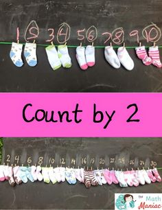 A fun way to show students how to count by 2!