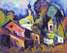 aleksandr-kuprin-moscow-a-landscape-with-a-church-19181