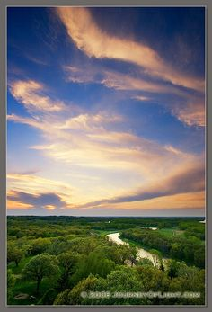 Sunset and the Platte River at Mahoney State Park, Nebraska Photograph | Scenic, Landscape, Nature & Wildlife | As the River Flows | Journey Of Light Photography