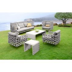 Rope Outdoor Relaxing Chair | Outdoor Furniture Sets | Teak ...