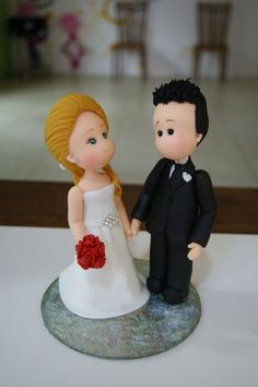 Wedding cake topper step by step
