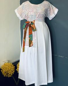 This is a unique style for any classy lady African Dresses For Kids, African Maxi Dresses, Ankara Dress Styles, African Fashion Ankara, Latest African Fashion Dresses, African Print Fashion, Africa Fashion, African Attire, African Print Dress Designs