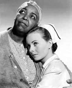 With Ethel Waters in PINKY (1949). Crain received a Best Actress Oscar nomination for her portrayal of a light-skinned black girl passing for white.