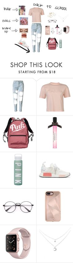 """""""back to school"""" by natalyholly on Polyvore featuring WithChic, Calvin Klein, Victoria's Secret, adidas Originals and Rebecca Minkoff"""