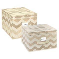 ClosetCandie Textured Chevron Storage Box