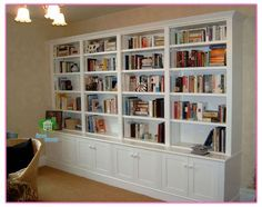 Home Library Furniture Library Bookshelves Home Wall Unit Bookcase Sweet Home Furniture Library Ikea Simple Bookshelf, White Bookshelves, Library Bookshelves, Bookshelf Design, Bookshelf Decorating, Decorating Ideas, Painted Bookcases, Custom Bookshelves, Rustic Bookshelf