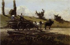 Camille Pissarro — The Wood Cart by Camille Pissarro Medium: oil on...