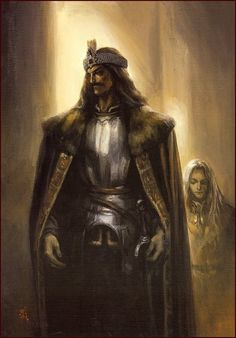 Suemi Jun, Count Dracula, Portrait of Vlad Tepes, Gen Vlad Drăculea, Fantasy Characters, Vlad The Impaler, Cool Monsters, Dracula, Vampires And Werewolves, Gothic Fantasy Art, Art, Vampire