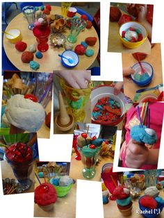 "Ice Cream Parlour with Play Dough - from Rachel ("",)"