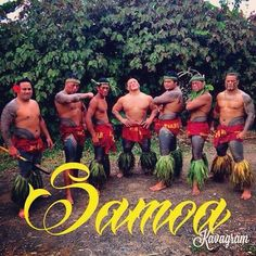 Group of Samoan Men showing their traditional tattoos Photo taken by Polyluv685
