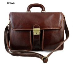 Leather briefcase business bag conference bag by ItalianHandbags