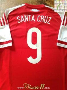 086a3a600c3f3 2015/16 Paraguay Home Football Shirt Santa Cruz #9 / Old Soccer Jersey |  Classic Football Shirts