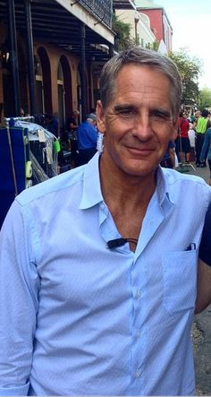 Scott Bakula on the streets of New Orleans during filming of NCIS: New Orleans in October 2014.