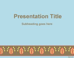 Free Rococo border PowerPoint Template