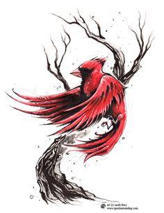 Loving XIV Cardinals Birds ~ Evoking NEW leadership