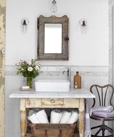Like the basin for the guests bathrooms with the sideboard vanities