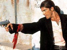Desperado. Antonio Banderas is to love and Robert Rodriguez is a brilliant director.