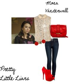"""""""Mona Vanderwall Pretty Little Liars"""" by aclothes on Polyvore"""