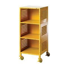 Vavoom Emporium - Industrial Bedside Cabinet/Shelf-Yellow
