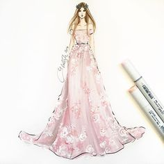 @zuhairmuradofficial sketched using @copicmarker and acrylics #zuhairmurad #zuhairmuradcouture #pfw #parisfashionweek #pfw16 #couture #fashionsketch #fashionillustration #fashionillustrator #bostonblogger #bostonillustrator #copic #copicmarkers #hnicholsillustration