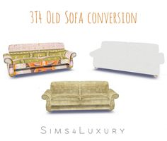 3T4 Old Sofa conversion at Sims4 Luxury • Sims 4 Updates