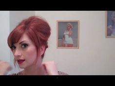 Vintage Everyday Beehive Bouffant Hair Tutorial by CHERRY DOLLFACE...she makes it so easy to understand