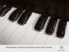 Mercedes-Benz sponsor of Sintra Music Festival in Portugal. Nice advert