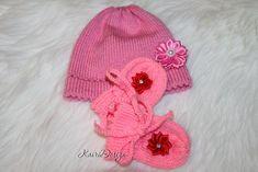 Machine knitting doll clothes doll mittens hat PDF pattern