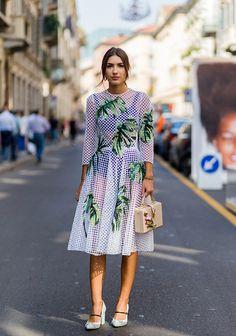 Patricia Manfield wearing a white sheer dress during Milan Fashion Week Spring/Summer 2017 on September 25 2016 in Milan Italy