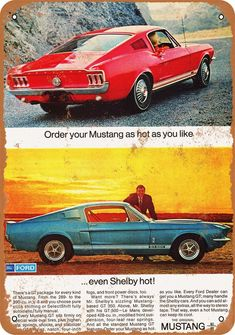 Vintage Ads Art - 1967 Mustang Shelby GT 500 by Digital Repro Depot Ford Mustang Shelby Gt500, 1967 Mustang, Mustang Cars, Ford Shelby, Bicicletas Raleigh, Shelby Gt 500, Volkswagen, Classic Mustang, Pony Car