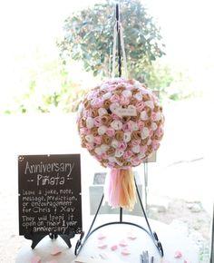 DIY Wedding Ideas - wedding pinata - guest book alternative idea