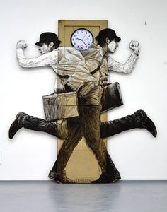 """New work from Levalet - """"On the run"""" Dec 2014"""