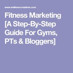 Gym Marketing Plan Pdf Template  Sample Plans  Fitness Trainer